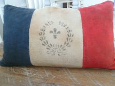 french flag pillow