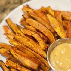 Une recette facile de frites de patates douces, sans friture!