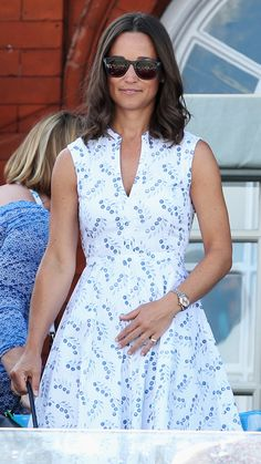 June 2014 | Pippa attends day two of the Aegon Championships at Queens Club. via @AOL_Lifestyle Read more: https://www.aol.com/view/pippa-middletons-style-transformation/?a_dgi=aolshare_pinterest#fullscreen