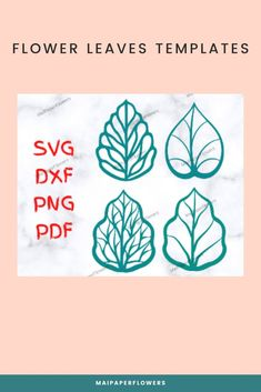 This set of paper flower leaves Svg is great for your paper flowers diy projects. They are to used to with cutting machines like Cricut, Silhouette. #paperflowerleaves #paperflowerleavessvg #paperflowersdiy #paperflowersvg #flowerleavessvg #paperflowerleavestemplate #paperflowerscraft #diypaperflowers Easy Paper Flowers, Giant Paper Flowers, Leaf Template, Rose Leaves, Printable Templates, Diy Paper, Give It To Me, Cricut, Diy Projects