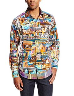 Robert Graham Men's Aruba Nat Long Sleeve Woven Shirt Limited, Multi, Small. Contrast interior cuffs, decorative ribbon either on the edge of garment. Cotton, classic fit, contrast interior neckband. Item Dimensions: weight: 100, width: -1, height: -1.