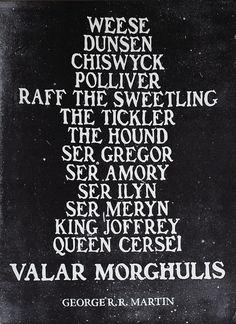 Arya's Death-Wish List