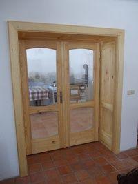 Dveře prosklené - borovice