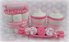 Bébé fille coffret gâteau de couches Mini par BeckysBabyCakesandUn