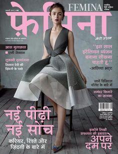 Classy on point! Alia Bhatt poses for the January issue of Femina Hindi Alia Bhatt Photoshoot, Indian Photoshoot, Bollywood Celebrities, Bollywood Actress, Aalia Bhatt, Alia And Varun, Nice Dresses, Amazing Dresses, Haute Couture Fashion