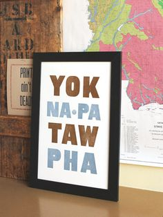 Yoknapatawpha - Find this adorable framed print here at Hue in Oxford, MS