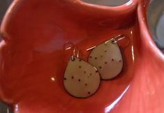 enameled teardrop earrings by kristybrabydesign on Etsy, $42.00