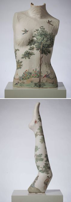 Artist Peng Wei merges traditional Chinese-style paintings with Western objects to create rice paper sculptures. #contemporaryart