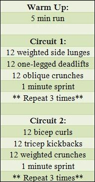 Love circuit workouts!! If you hate to workout, circuits are for you! They keep it interesting!