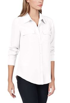 Every woman needs a white button up blouse in their closet. It is the go to shirt that you can wear with anything, Throw it on with a pair of jeans and you have a simple casual outfit, put it under a business suit for the perfect corp look. or get a little risky and leave it very much open with a pencil skirt and a sexy heel for a night at the club! So many options and just one shirt! @justfabonline #justfabapparel