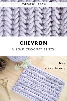 How to herringbone single crochet stitch! Free video tutorial How to herringbone single crochet stitch! Free video tutorial,Crochet – Stitches Learn how to crochet the herringbone single crochet with this step-by-step video and photo. Crochet Stitches For Blankets, Crochet Stitches Free, Tunisian Crochet, Crochet Blanket Patterns, Learn To Crochet, Free Crochet, Easy Things To Crochet, Knit Stitches For Beginners, Chevron Crochet Patterns