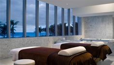 """The Spa at Fontainebleau Hotel """"Lapis"""", is a luxurious retreat designed with your well-being in mind. Overlooking the Atlantic Ocean, indulge yourself in an oasis that embraces the beauty and energy of its setting to create a transformative experience for body, mind and spirit."""