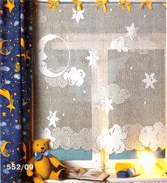 Moon and Stars Curtain with diagram
