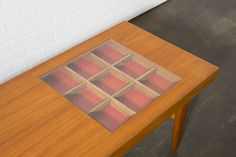 !!!!!WANNNTTT!!!!!  Rare Danish Modern Coffee Table by Selig | From a unique collection of antique and modern coffee and cocktail tables at https://www.1stdibs.com/furniture/tables/coffee-tables-cocktail-tables/
