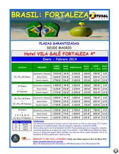 BRASIL (Fortaleza) Hotel Vila Galé Fortaleza 4* en Enero - Febrero 2014 /Madrid/ desde 1.399€ - http://zocotours.com/brasil-fortaleza-hotel-vila-gale-fortaleza-4-en-enero-febrero-2014-madrid-desde-1-399e/