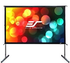 Elite Screens Yard Master 120 inch Outdoor Projector Screen with Stand Ultra HD Portable Fast Folding Movie Theater Cinema Indoor Foldable Rear Projection Screen, Outdoor Projector Screens, Movie Projector Screen, Portable Projector Screen, Outdoor Screens, Projector Ideas, Outdoor Movie Screen, Outdoor Theater, Outdoor Cinema, Internet Radio