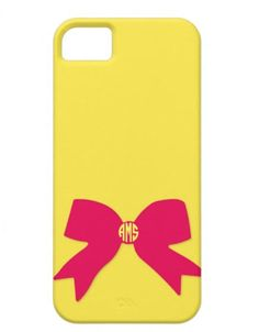Build Your Own Bow Monogram Phone Case by AlyssaCreates on Etsy, $25.99
