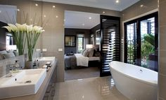 Master bathroom (separating door)  (counter like kids bathroom)