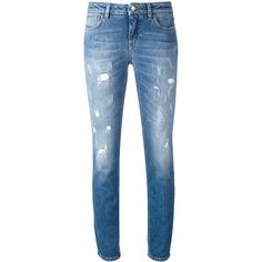 Dolce & Gabbana distressed skinny jeans (11.015 ARS) ❤ liked on Polyvore featuring jeans, pants, bottoms, blue, super skinny ripped jeans, denim skinny jeans, skinny fit jeans, distressed jeans and super distressed skinny jeans