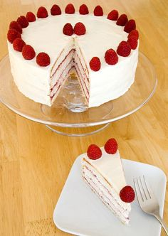 Lemon Raspberry Cake. Looks like a delicious summer cake to add to my summer selections