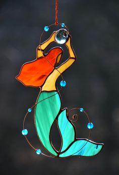 Beach Glass art Sailboat - Beach Glass art Wedding - - Stained Glass art Craft - Glass art Garden How To Make - Fused Glass art Birds Stained Glass Ornaments, Stained Glass Suncatchers, Stained Glass Designs, Stained Glass Projects, Stained Glass Art, Fused Glass, Stained Glass Patterns Free, Broken Glass Art, Sea Glass Art