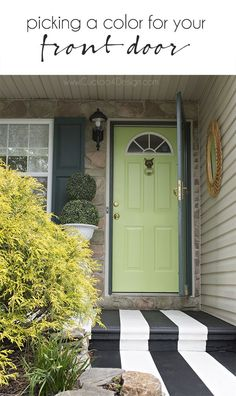 Picking the right color and painting exterior doors - Up your curb appeal - Cuckoo4Design