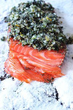 Citrus and Juniper Salmon Gravlox - Kate Sonders Food Writer