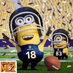 Go Broncos!!!!!! Minions know whats up!