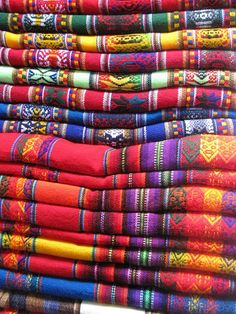 South American cloth @Zahra Omer we need to get some and make our own bags