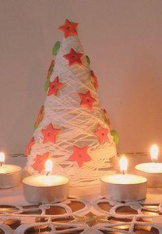 Vánoční stromeček z příze či vlny