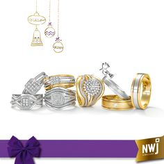 Make this a Christmas to remember forever, with a wide range of 9ct Gold ladies & gents wedding rings - now in-store.