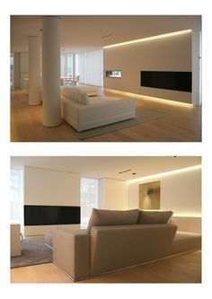 Find ideas for your home with these living room lighting ideas. Living Room Lighting, Living Room Decor, Living Spaces, Interior Lighting, Home Lighting, Unique Lighting, Lighting Ideas, Lighting Design, Light Architecture