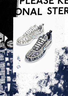 12245565c8e9d Un par de tenis Nike para los amantes de la tipografía