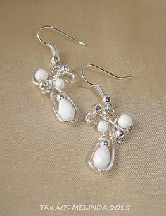 Freya wire wrapped earrings
