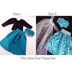Frozen Inspired Reversible Elsa Doll Dress For Disney