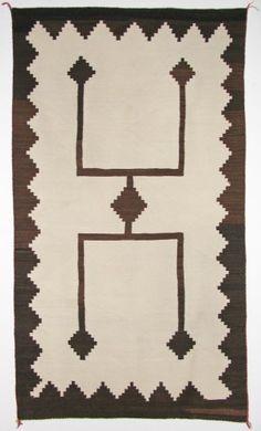 Storm Pattern natural textile, c. 1890