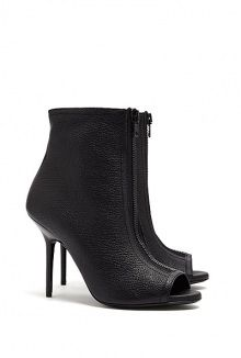 Gloucester Peeptoe Heeled Ankle Boots by Burberry Shoes  #Burberry #Shoes #ankleboots #peeptoe #Leather