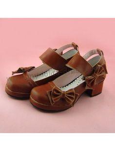 1f7314ae8ccf Side Bows Wide Straps Lolita Shoes Lolita Shoes