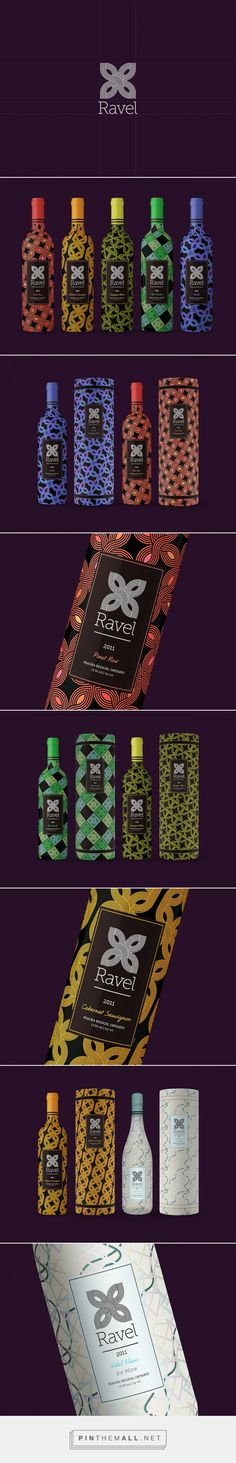 Ravel Wines packaging designed by Tom Ralston (Canada) - http://www.packagingoftheworld.com/2016/01/ravel-wines.html