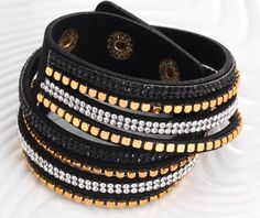 59c99f493da61 2016 Fashion Crystals on 6 Colors Leather Based Bracelet For Men and Women