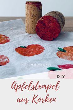 einfacher Apfelstempel selbstgemacht