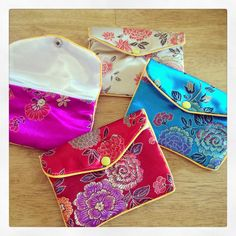 Chinese style pouches / purse - The Supermums Craft Fair