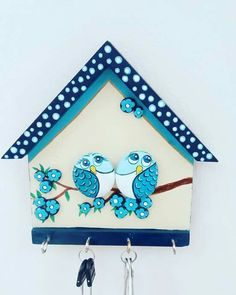 Stone painting wood keychain and towel holder gift order is taken ahşap - Decoration Room Clay Crafts For Kids, Diy Arts And Crafts, Diy Crafts, Stone Crafts, Rock Crafts, Stone Painting, Painting On Wood, Body Painting, Clay Art Projects