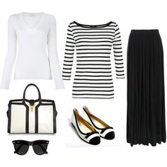 """White and black"" by idea-floral on Polyvore"