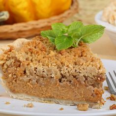 Add a little change and variety with this delicious Streusel pumpkin pie recipe. Streusel Pumpkin Pie Recipe from Grandmothers Kitchen.