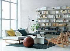 bookshelf in small living room