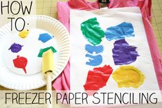 DIY freezer paper stenciling (great idea for handmade Christmas gifts)