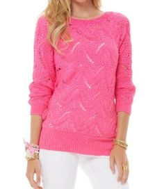 Lilly Pulitzer Larissa Dolman Sleeve Sweater in Pop Pink