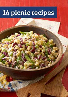 16 Picnic Recipes -- From easy entrees and portable sides to sweet desserts and potluck favorites, we have a range of great picnic recipes to try!