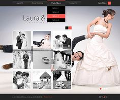 Template 36825 Single Page Wedding Website Design With Photo Gallery